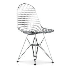 Eames Wire Chair Side/Dining herman miller Glides with Felt Bottom