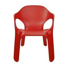Easy Chair 4-Pack Outdoors Magis Matte Red Four Chairs