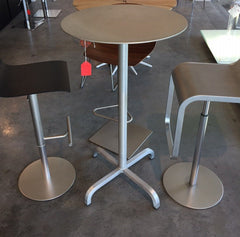 "20-06 Round Bar-Height Table *** FLOOR SAMPLE *** 24"" Aluminum Top bar height tables Emeco"