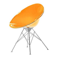Ero|s| Fixed Base Side/Dining Kartell Transparent Orange