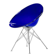 Ero|s| Fixed Base Side/Dining Kartell Transparent Cobalt Blue