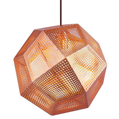 Etch Pendant hanging lamps Tom Dixon Etch 32 - Copper