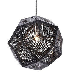 Etch Pendant hanging lamps Tom Dixon Etch 32 - Black