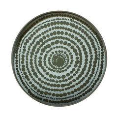 Gold Beads Mirror Round Tray Tray Ethnicraft