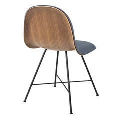 Gubi 3D Center Base Dining Chair with Front Upholstery