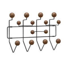 Eames Hang It All Coat Rack Coat Hooks herman miller Black Frame - Walnut Spheres +$100.00