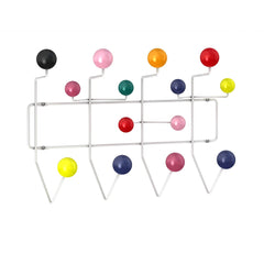 Eames Hang It All Coat Rack Coat Hooks herman miller White Frame - Multi-Color Spheres