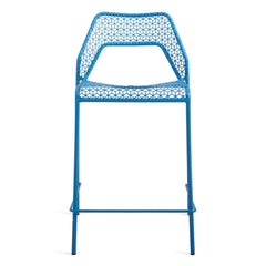 Hot Mesh Counter Stool bar seating BluDot Simple Blue