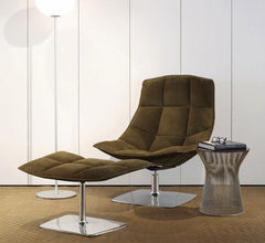 Jehs+Laub Pedestal Base Lounge - Leather lounge chair Knoll