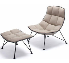 Jehs+Laub Wire Base Lounge Chair & Ottoman