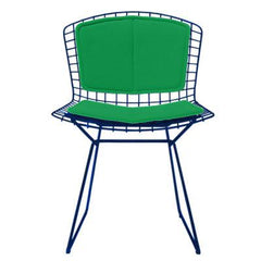 Bertoia Side Chair with Seat and Back Pad Side/Dining Knoll Green Vinyl - Lime