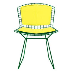 Bertoia Side Chair with Seat and Back Pad Side/Dining Knoll Green Vinyl - Sunflower