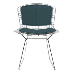 Bertoia Side Chair with Seat and Back Pad Side/Dining Knoll Chrome Vinyl - Spruce