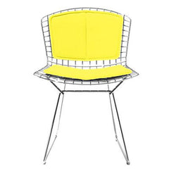 Bertoia Side Chair with Seat and Back Pad Side/Dining Knoll Chrome Vinyl - Sunflower