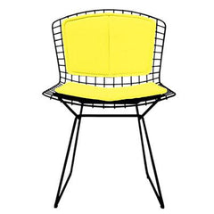 Bertoia Side Chair with Seat and Back Pad Side/Dining Knoll Black Vinyl - Sunflower