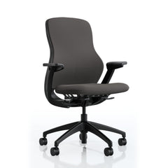 Knoll ReGeneration Chair Fully Upholstered task chair Knoll Height-Adjustable Arms +$126.00 Dark Plastic Storm