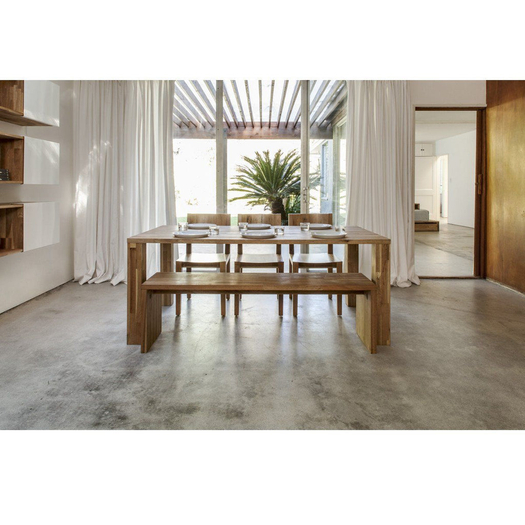 Lax series edge dining table dining tables mash studios