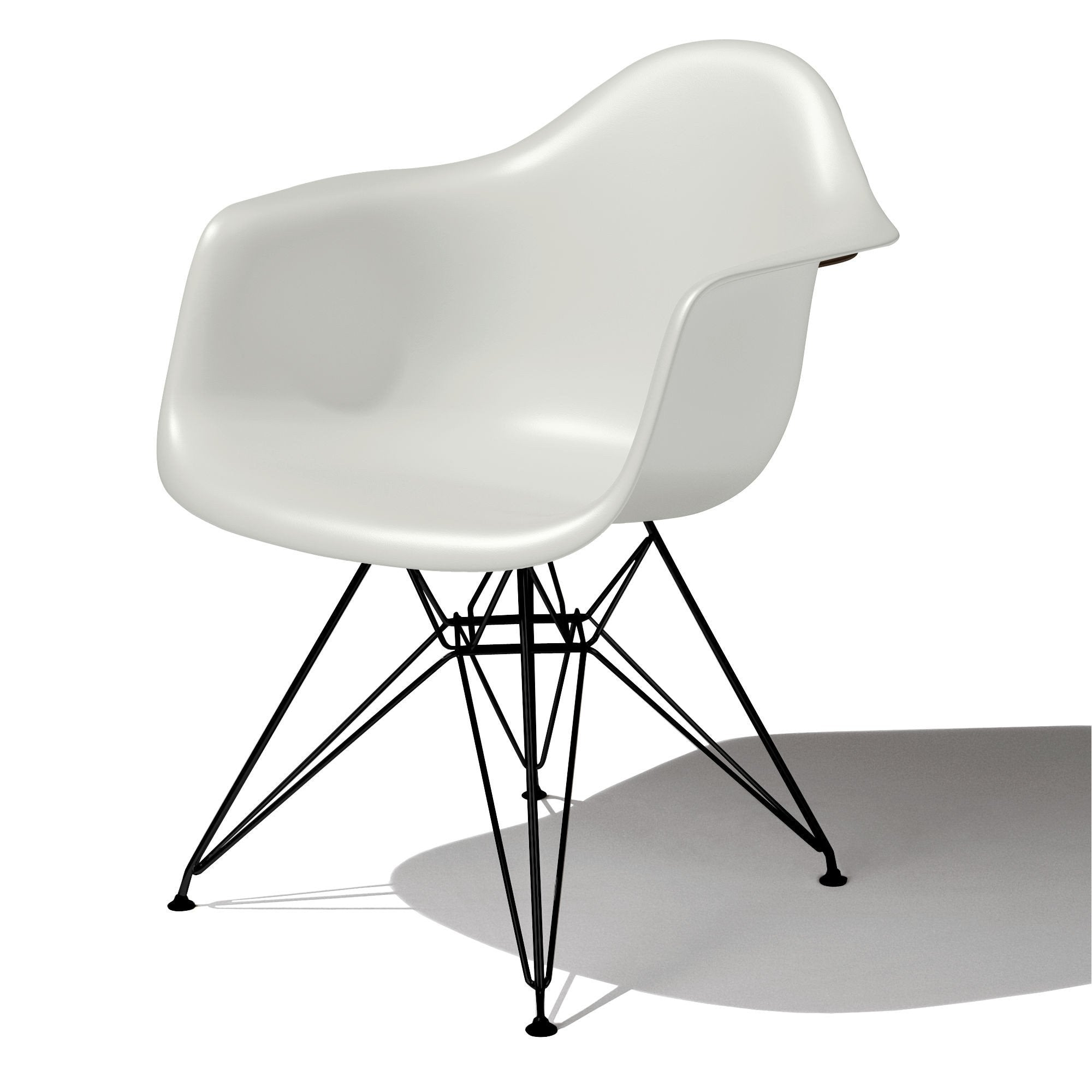 Eames Molded Plastic Arm Chair wire base DAR