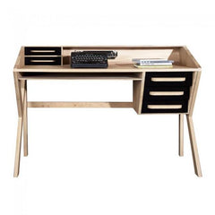 Oak Origami 5 Drawers Desk