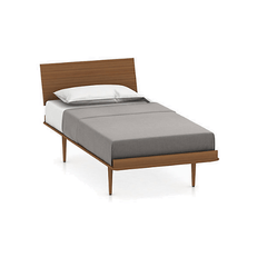 Nelson Thin Edge Bed - Wood Taper Legs