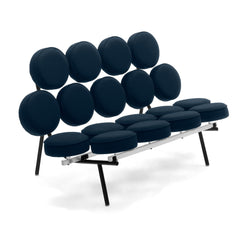 Nelson Marshmallow Sofa Sofa herman miller Midnight Blue Crepe Fabric