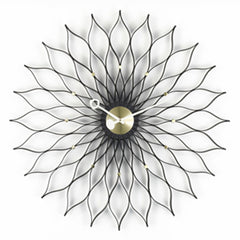 George Nelson Sunflower Clock By Vitra Clocks Vitra Black/Brass