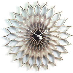 George Nelson Sunflower Clock By Vitra Clocks Vitra Birch