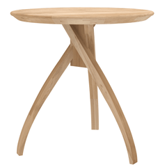 Oak Twist side table