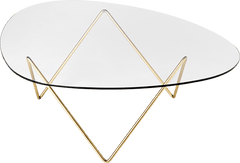 Pedrera Coffee Table Coffee Tables Gubi Brass +$110.00