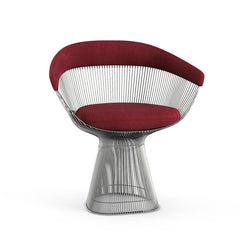 Platner Arm Chair Side/Dining Knoll Polished Nickel Bordeaux Circa