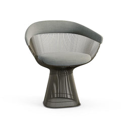 Platner Arm Chair Side/Dining Knoll Metallic Bronze Swan Knoll Velvet