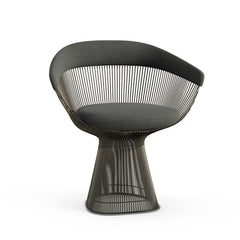 Platner Arm Chair Side/Dining Knoll Metallic Bronze Graphite Knoll Velvet