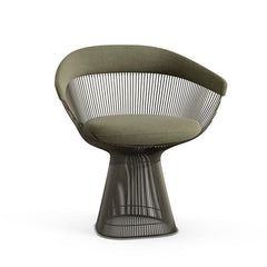 Platner Arm Chair Side/Dining Knoll Metallic Bronze Sage Knoll Velvet