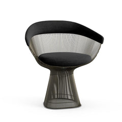 Platner Arm Chair Side/Dining Knoll Metallic Bronze Ebony Knoll Velvet