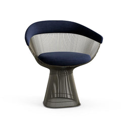 Platner Arm Chair Side/Dining Knoll Metallic Bronze Aviator Knoll Velvet