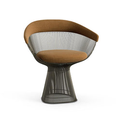 Platner Arm Chair Side/Dining Knoll Metallic Bronze Penny Knoll Velvet