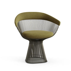Platner Arm Chair Side/Dining Knoll Metallic Bronze Moss Knoll Velvet