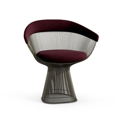 Platner Arm Chair Side/Dining Knoll Metallic Bronze Wine Knoll Velvet