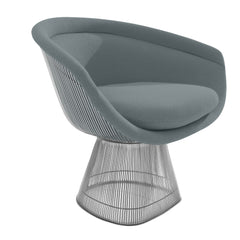 Platner Lounge Chair lounge chair Knoll Nickel Smoke Classic Boucle +$164.00