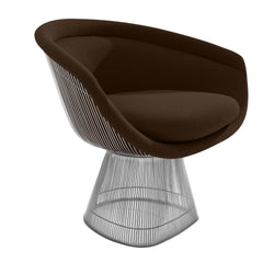 Platner Lounge Chair lounge chair Knoll Nickel Brown Cato +$751.00