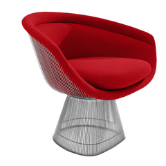 Platner Lounge Chair lounge chair Knoll Nickel Fire Red Cato +$751.00