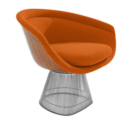 Platner Lounge Chair lounge chair Knoll Nickel Orange Cato +$751.00