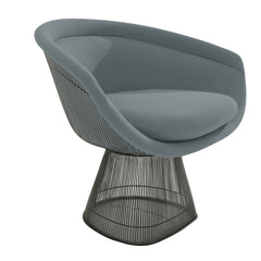 Platner Lounge Chair lounge chair Knoll Bronze +$319.00 Smoke Classic Boucle +$164.00