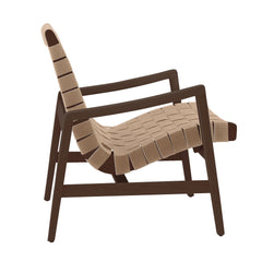 Risom Armchair lounge chair Knoll Light Walnut +$67.00 Flax Cotton Webbing