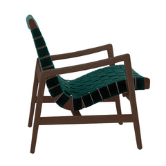 Risom Armchair lounge chair Knoll Light Walnut +$67.00 Forest Green Cotton Webbing