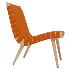 Risom Lounge Chair lounge chair Knoll Clear Maple Nutmeg Cotton-Nylon Webbing
