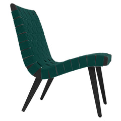 Risom Lounge Chair lounge chair Knoll Ebonized Maple Forest Green Cotton Webbing