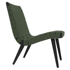 Risom Lounge Chair lounge chair Knoll Ebonized Maple Khaki Cotton Webbing