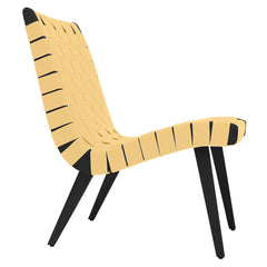 Risom Lounge Chair lounge chair Knoll Ebonized Maple Maize Cotton Webbing