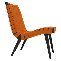 Risom Lounge Chair lounge chair Knoll Ebonized Maple Nutmeg Cotton-Nylon Webbing